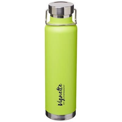 Picture of THOR 650 ML COPPER VACUUM THERMAL INSULATED SPORTS BOTTLE in Lime