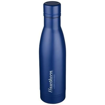 Picture of VASA 500 ML COPPER VACUUM THERMAL INSULATED SPORTS BOTTLE in Blue