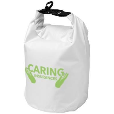 Picture of SURVIVOR 5 LITRE WATERPROOF ROLL-DOWN BAG in White Solid