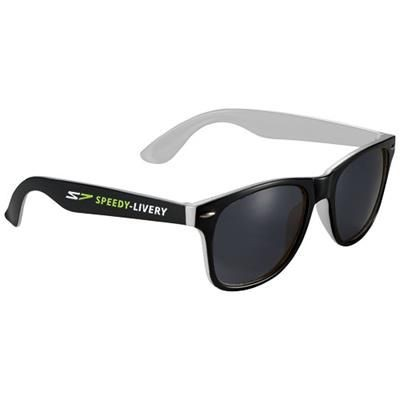 Picture of SUN RAY SUNGLASSES with Two Colour Tones in White Solid-black Solid
