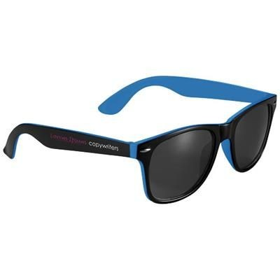 Picture of SUN RAY SUNGLASSES with Two Colour Tones in Process Blue-black Solid