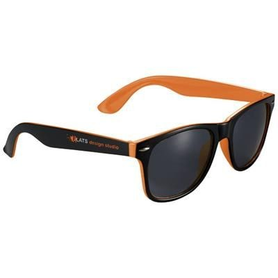 Picture of SUN RAY SUNGLASSES with Two Colour Tones in Orange-black Solid