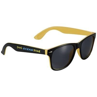 Picture of SUN RAY SUNGLASSES with Two Colour Tones in Yellow-black Solid