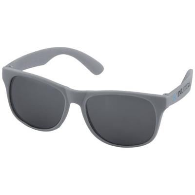 Picture of RETRO SINGLE COLOUR SUNGLASSES in Grey