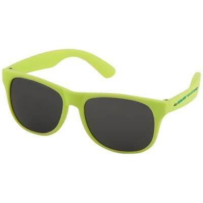 Picture of RETRO SINGLE COLOUR SUNGLASSES in Neon Fluorescent Yellow