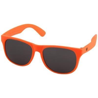 Picture of RETRO SINGLE COLOUR SUNGLASSES in Neon Fluorescent Orange