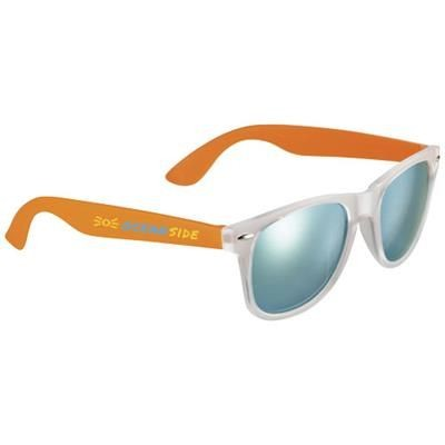 Picture of SUN RAY SUNGLASSES with Mirrored Lenses in Orange