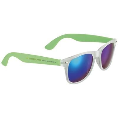 Picture of SUN RAY SUNGLASSES with Mirrored Lenses in Lime