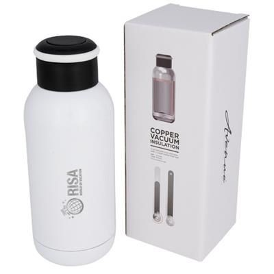Picture of COPA 350 ML MINI COPPER VACUUM THERMAL INSULATED BOTTLE in White Solid