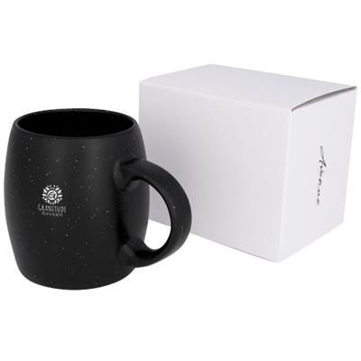 Picture of STONE 590 ML CERAMIC POTTERY MUG in Black Solid