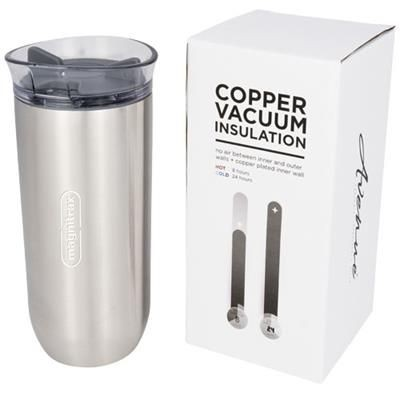 Picture of TWIST 470 ML COPPER VACUUM THERMAL INSULATED TUMBLER in Silver