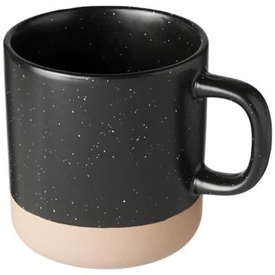 Picture of PASCAL 360 ML CERAMIC POTTERY MUG in Black Solid