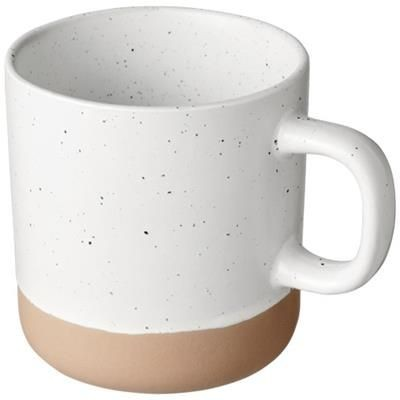 Picture of PASCAL 360 ML CERAMIC POTTERY MUG in White Solid