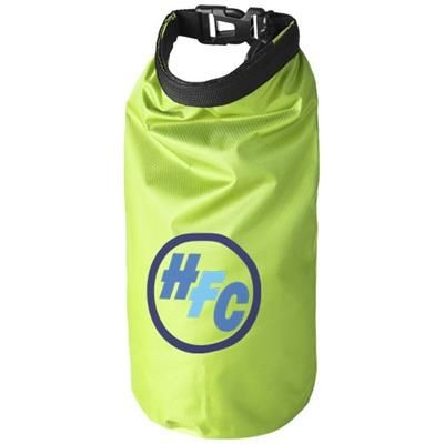 Picture of TOURIST 2 LITRE WATERPROOF BAG with Phone Pouch in Lime