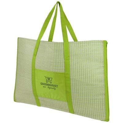 Picture of BONBINI FOLDING BEACH TOTE AND MAT in Lime