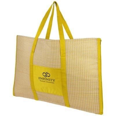 Picture of BONBINI FOLDING BEACH TOTE AND MAT in Yellow