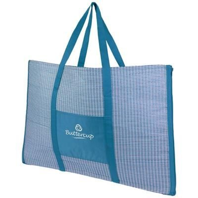 Picture of BONBINI FOLDING BEACH TOTE AND MAT in Process Blue
