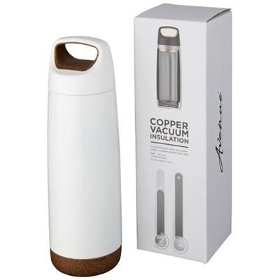 Picture of VALHALLA 600 ML COPPER VACUUM THERMAL INSULATED SPORTS BOTTLE in White Solid