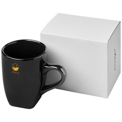 Picture of COSMIC 360 ML CERAMIC POTTERY MUG in Black Solid