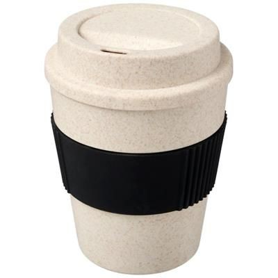 Picture of OKA 350 ML WHEAT STRAW TUMBLER in Black Solid