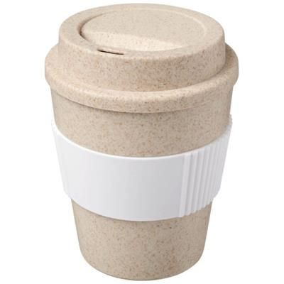 Picture of OKA 350 ML WHEAT STRAW TUMBLER in White Solid