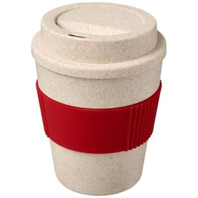 Picture of OKA 350 ML WHEAT STRAW TUMBLER in Red