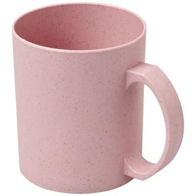 Picture of PECOS 350 ML WHEAT STRAW MUG in Magenta