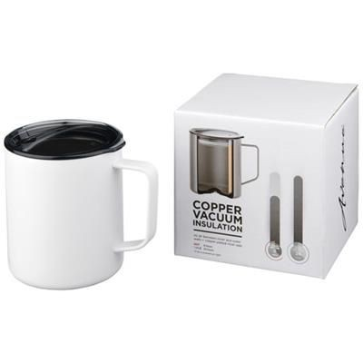 Picture of ROVER 420 ML COPPER VACUUM THERMAL INSULATED MUG in White Solid