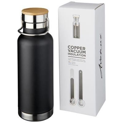 Picture of THOR 480 ML COPPER VACUUM THERMAL INSULATED SPORTS BOTTLE in Black Solid
