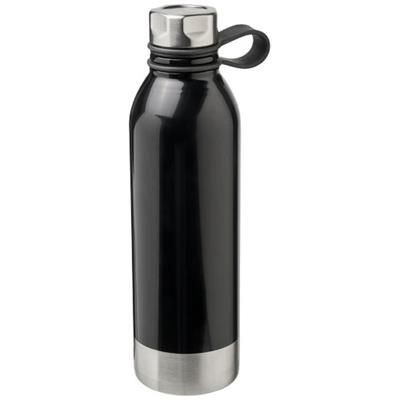 Picture of PERTH 740 ML STAINLESS STEEL METAL SPORTS BOTTLE in Black Solid