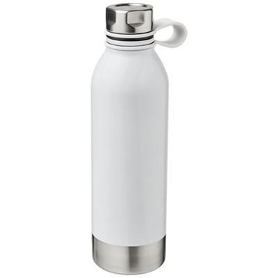 Picture of PERTH 740 ML STAINLESS STEEL METAL SPORTS BOTTLE in White Solid