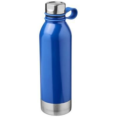 Picture of PERTH 740 ML STAINLESS STEEL METAL SPORTS BOTTLE in Blue