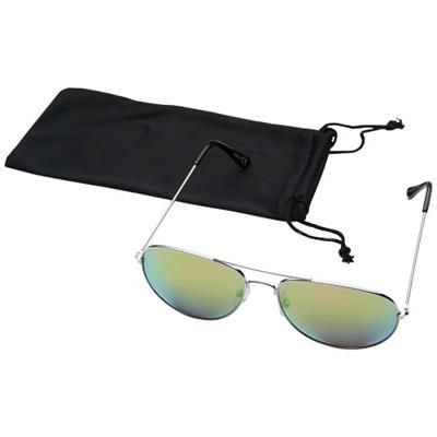 Picture of AVIATOR SUNGLASSES with Colour Mirrored Lenses in Green