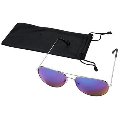 Picture of AVIATOR SUNGLASSES with Colour Mirrored Lenses in Magenta