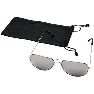 Picture of AVIATOR SUNGLASSES with Colour Mirrored Lenses in Silver