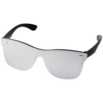 Picture of SHIELD SUNGLASSES with Full Mirrored Lens in Silver