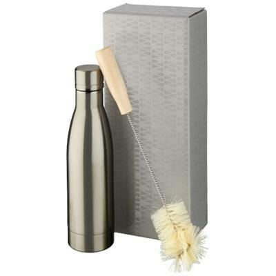 Picture of VASA COPPER VACUUM THERMAL INSULATED BOTTLE with Brush Set in Titanium