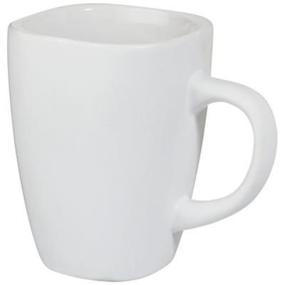 Picture of FOLSOM 350 ML CERAMIC POTTERY MUG in White Solid
