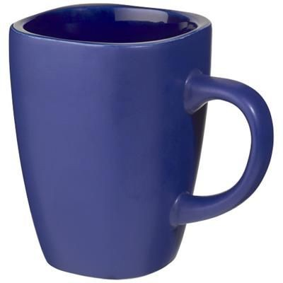 Picture of FOLSOM 350 ML CERAMIC POTTERY MUG in Blue