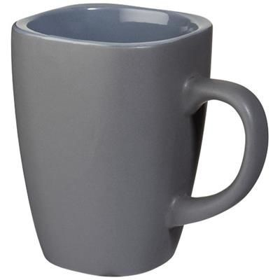 Picture of FOLSOM 350 ML CERAMIC POTTERY MUG in Grey