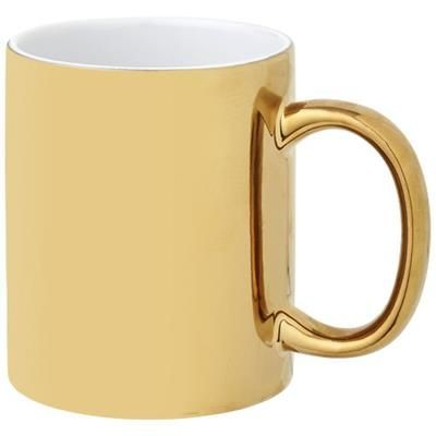 Picture of GLEAM 350 ML CERAMIC POTTERY MUG in Gold