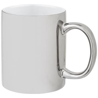 Picture of GLEAM 350 ML CERAMIC POTTERY MUG in Silver