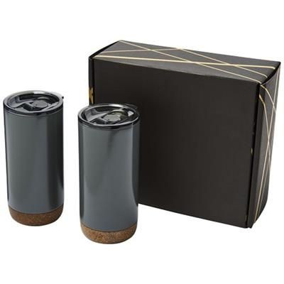 Picture of VALHALLA TUMBLER COPPER VACUUM THERMAL INSULATED GIFT SET in Grey