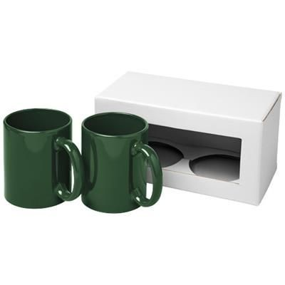 Picture of CERAMIC MUG 2-PIECES GIFT SET in Green