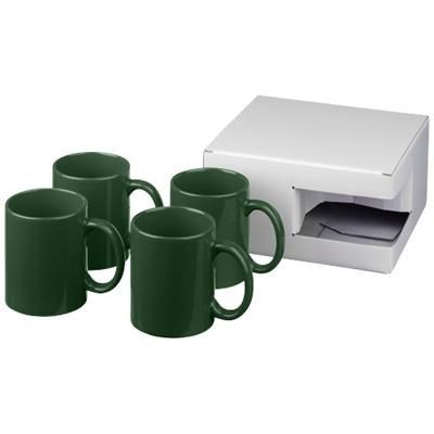 Picture of CERAMIC MUG 4-PIECES GIFT SET in Green