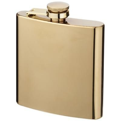 Picture of ELIXER 175 ML GOLD HIP FLASK in Gold