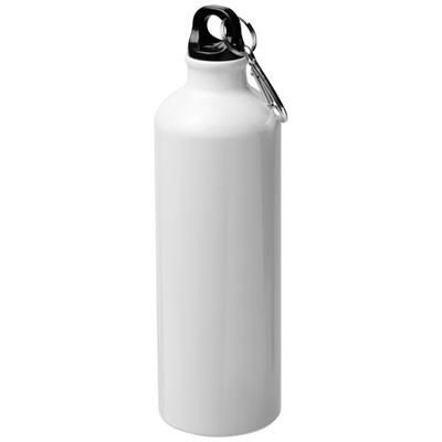Picture of PACIFIC 770 ML SUBLIMATION SPORTS BOTTLE with Carabiner in White Solid