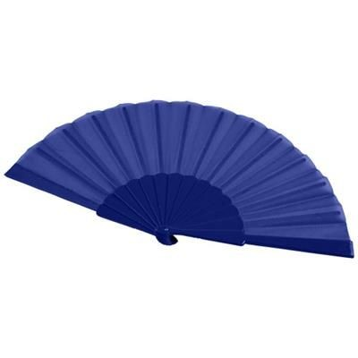 Picture of MAESTRAL FOLDING HANDFAN in Paper Box in Royal Blue