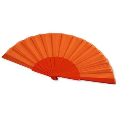 Picture of MAESTRAL FOLDING HANDFAN in Paper Box in Orange