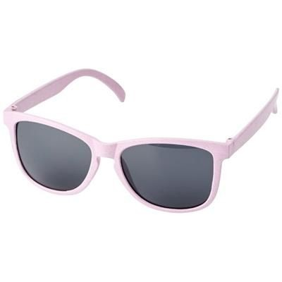 Picture of RONGO WHEAT STRAW SUNGLASSES in Magenta